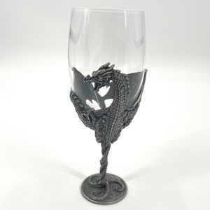 Myths & Legends Pewter Dragon Wine Glass Goblet